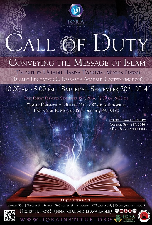 Iqra Institute – Knowledge  Ehsan  Community  – Call of Duty