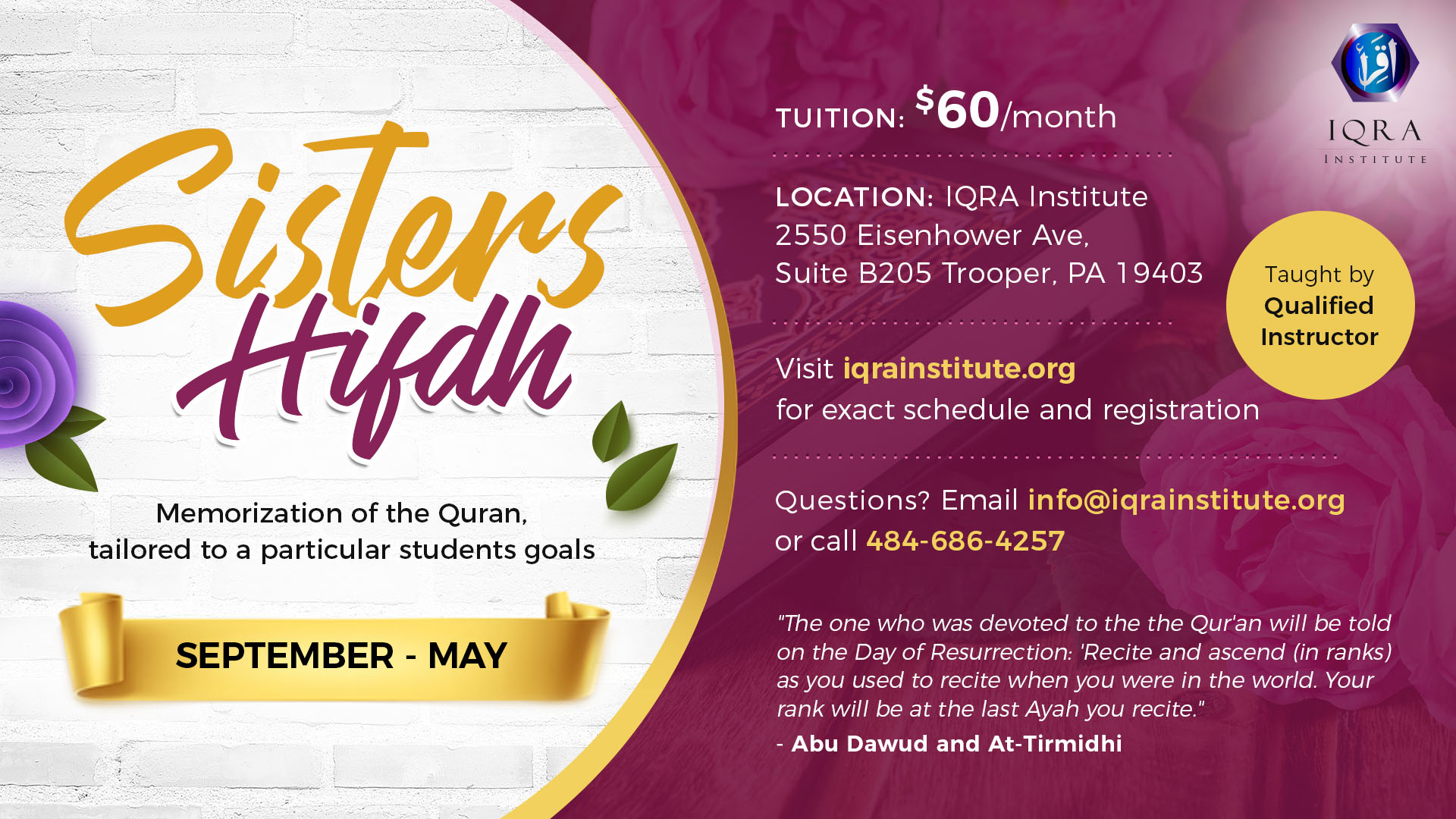 Iqra Institute – Knowledge  Ehsan  Community  – Sisters